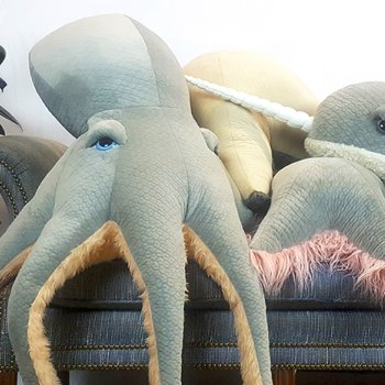 Katharine Bowen, Octopus, Starfish, and Whale on Couch
