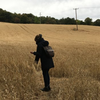 Amara Hark-Weber at The Balvenie barley fields