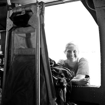 Alicia Dietz and Black Hawk Helicopter