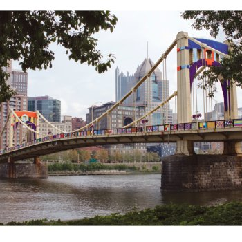 Andy Warhol Seventh Street Bridge Yarn Bomb