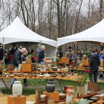 Pottery sale at Robert Briscoe's studio