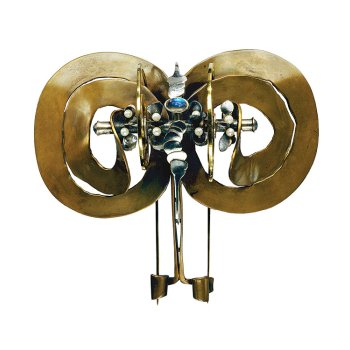 Albert Paley, Double Fibula Brooch